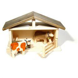 holz spielzeug bauernhof in klein als stall spielzeug. Black Bedroom Furniture Sets. Home Design Ideas